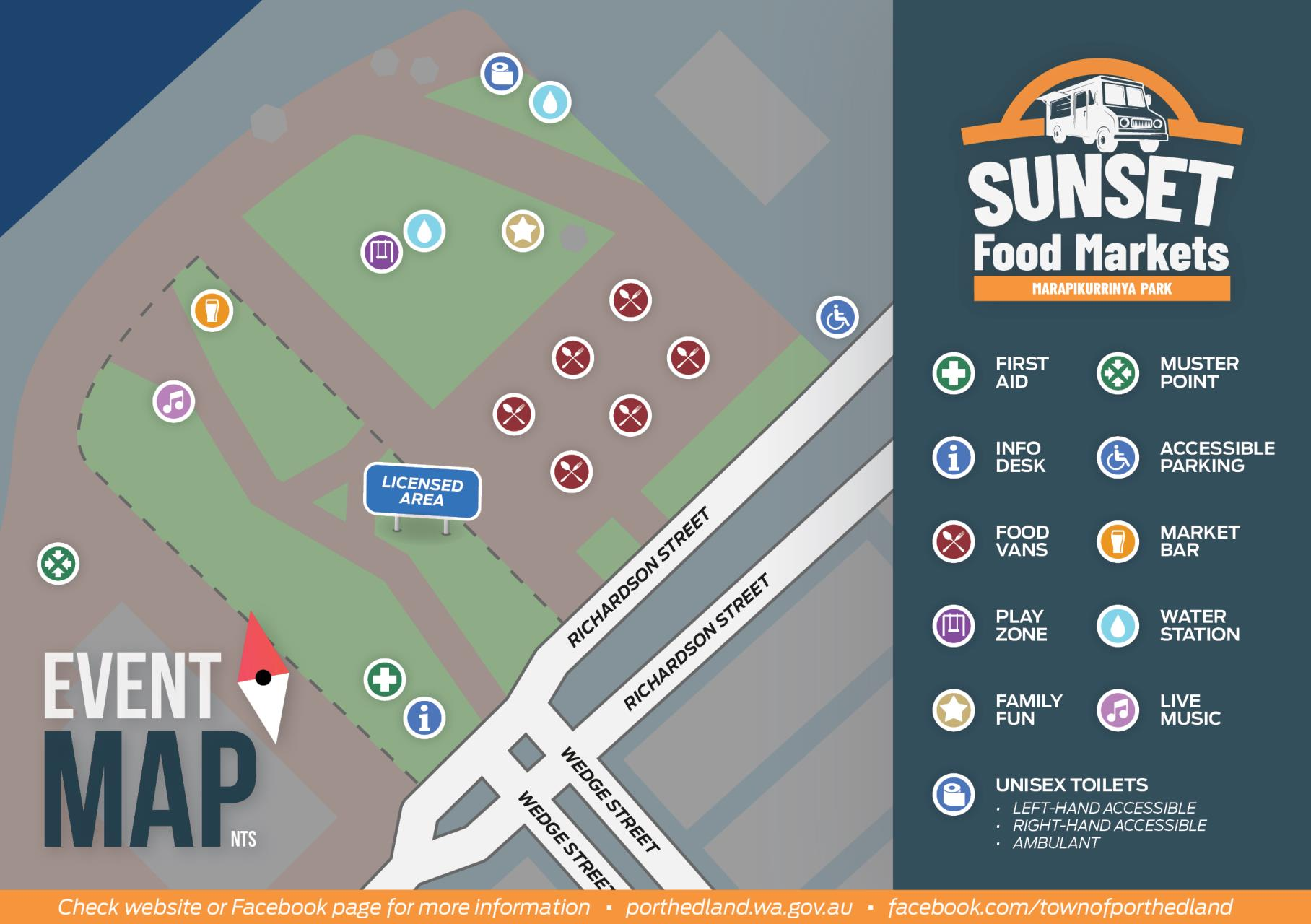 Sunset Food Market Event Map