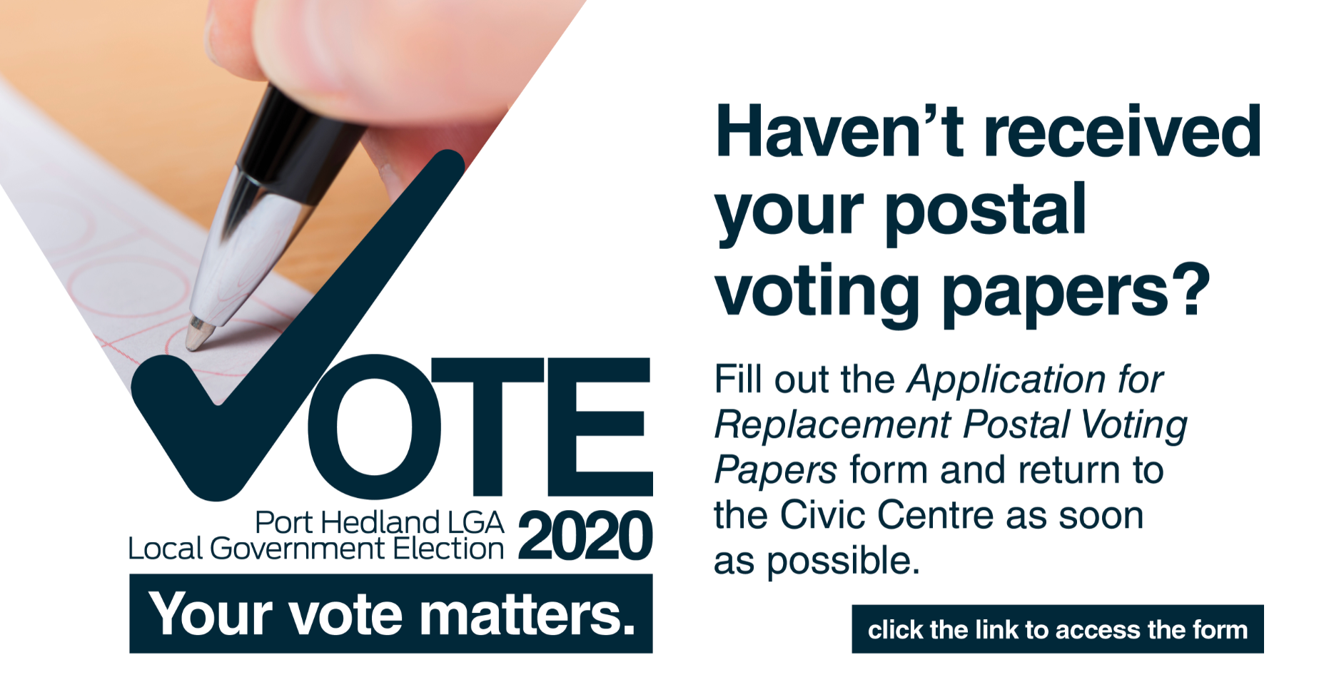 Haven't received your postal voting papers?