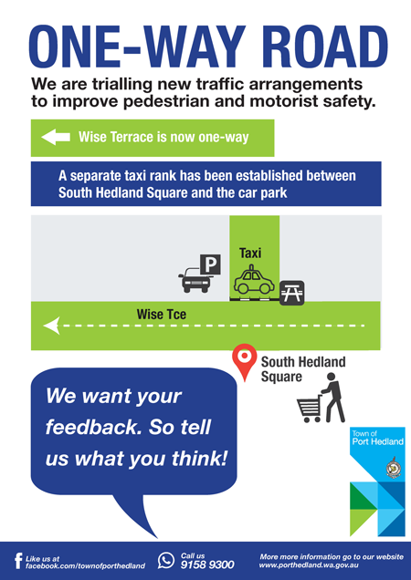 South Hedland Town Centre trial road modifications