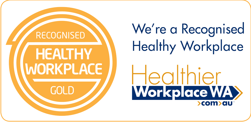 Recognised Gold Healthy Workplace