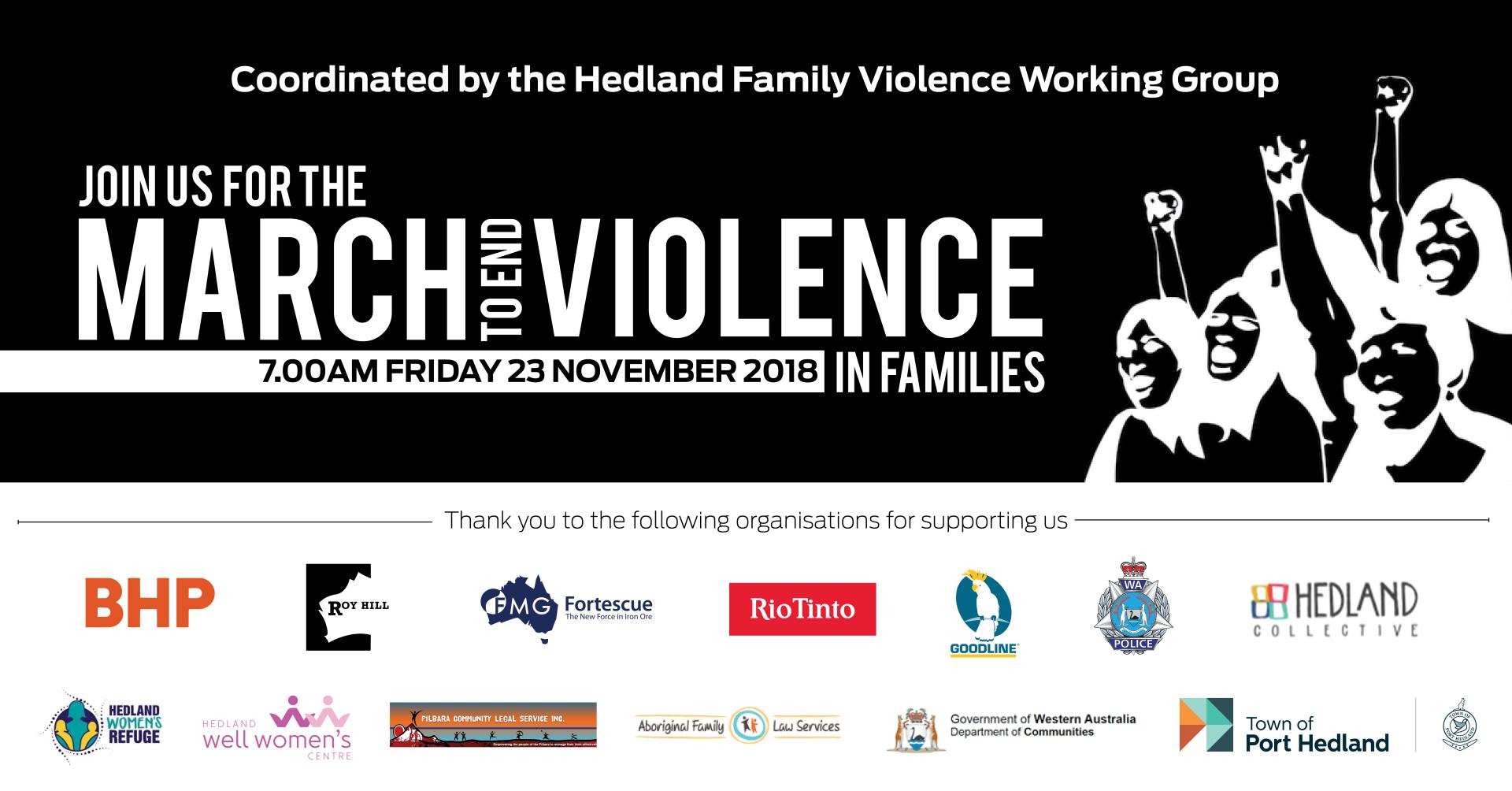 Hedland's March to End Violence in Families
